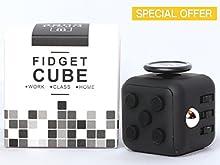 Cubo de Fidget?Stress Reliever?buena para alivio de tensión (figit cubo) (negro)