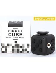 zappeln Cube–Stress Kombination–Gut für Stress Relief (figit Cube) (schwarz)