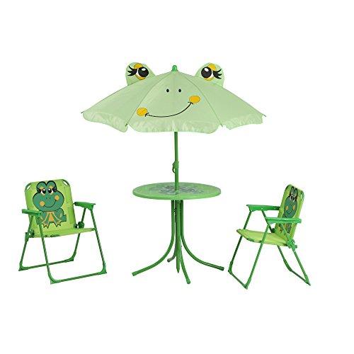 Siena Garden 672614 Kindersitzgruppe Froggy, cm, Gestell: Stahl, in grün, Fläche: Polyester in grün -