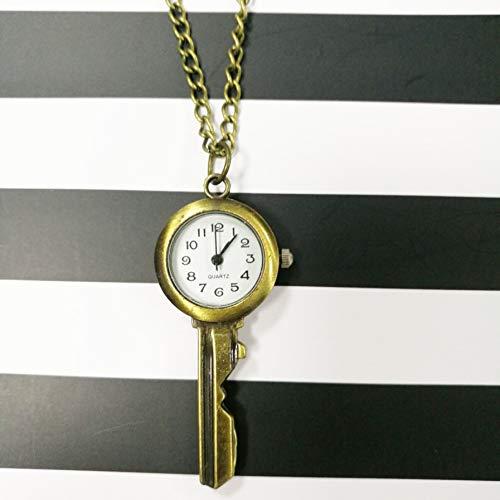 Beobachten Retro personifizierte Schlüsselkette hängender Tisch kreativer Mode-Liebhaber Tabelle Student Test bequem kleines Geschenk mit einem einfachen Armbanduhr (Color : B)