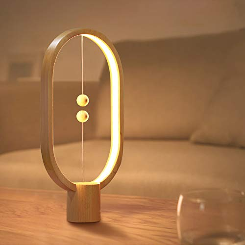 Lámpara de mesa creativo equilibrio inteligente interruptor magnético LED lámpara de mesa luz de noche Halloween luces de Navidad decoración fuente de alimentación USB