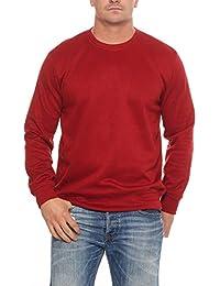 2f8f10bdc902 Benter Herren Pullover Sweatshirt mit Rundhalskragen unifarbener Basic  Baumwollpullover Regular Fit 16945