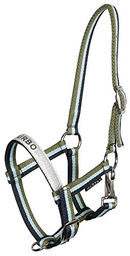 Harry\'s Horse Nylonhalfter Fohlen Halfter 2fach verstellbar Glitter Badge (Blue Nights)