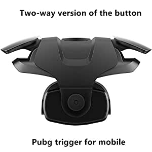 Nekrash Pubg-III Mobile Pubg Trigger- Controller Battle Royale Sensitive Shoot and Aim LT016BLG-Supports for All Android and iOS Phones-1 Pair (Midnight Black)