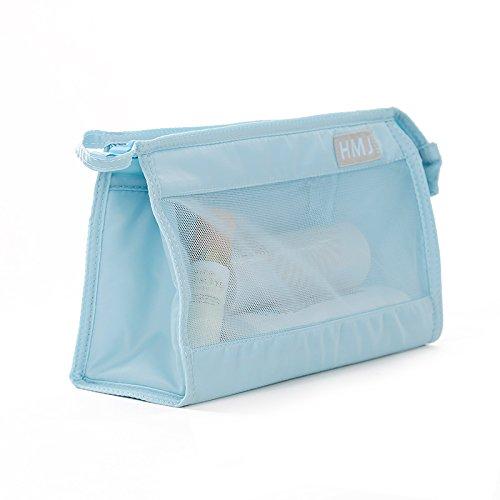 zxing Make-Up-Tasche, Reise-Reise-Waschtasche, Große Kapazität wasserdichte Tragbare Sammlung Tasche 15X26X8Cm Blau -