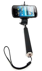 DURAGADGET Perche / Selfie Stick télescopique avec support ajustable pour Acer Liquid E1, E2 Duo, Z2 et Z3 - chiffon bonus