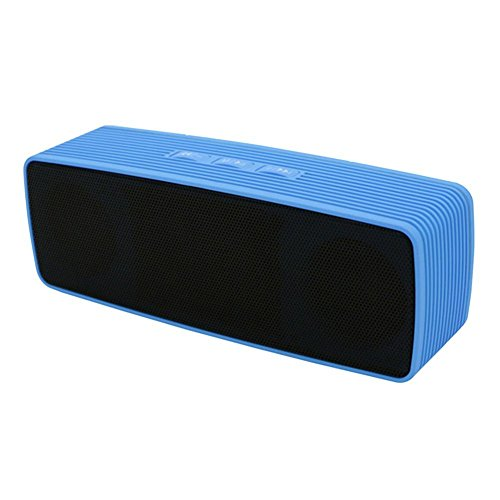 Larkoo - MP3 Player, 4 in 1 Mini Portable bluetooth Speakers, Dual Wireless Speakers with Ultra Bass Stereo Support Hand-Free FM TF USB Disk for Apple Iphone 6 6S Plus and Galaxy Samsung S6 S5 (Blue)