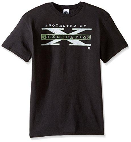 WWE Herren T-Shirt Protected by D Generation X - Schwarz - Groß