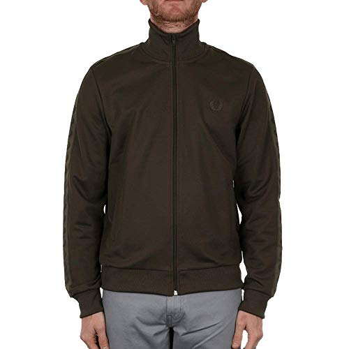 Fred Perry Tonal Taped Track Jacket Neck Track Jacket