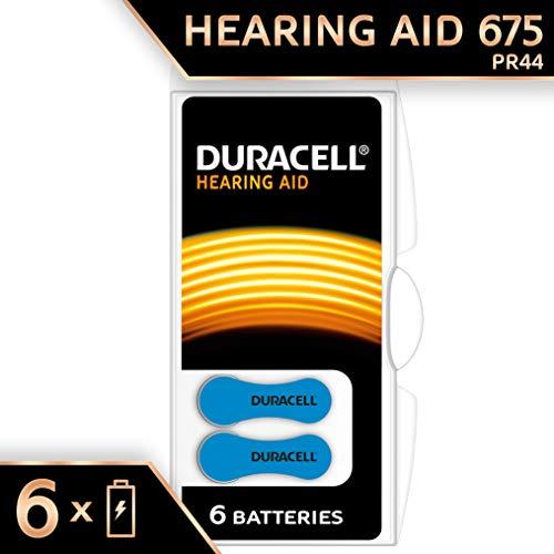 Duracell Batterie per Apparecchi Acustici Formato 675, Confezione da 6