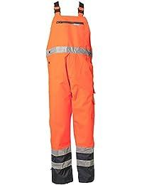 """Planam Regen-Latzhose """"Warnschutz"""", Größe S in orange / marine, 1 Stück, 2066044"""