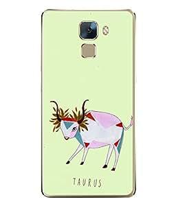 PrintVisa Designer Back Case Cover for Huawei Honor 7 :: Huawei Honor 7 (Enhanced Edition) :: Huawei Honor 7 Dual SIM (Astrology Zodiac Leaf Flower Horoscope Raashi Taurus)