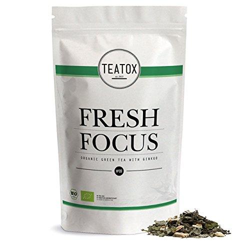 TEATOX Fresh Focus, Bio Grüntee mit Ginkgo und Ginseng, Refill