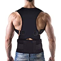 Corrector de Postura con soporte recto Ultrafino respirable Vendaje de elástico en la cintura del hombro para hombres y mujeres (circunferencia de la cintura de 80 cm a 120 cm) (L)