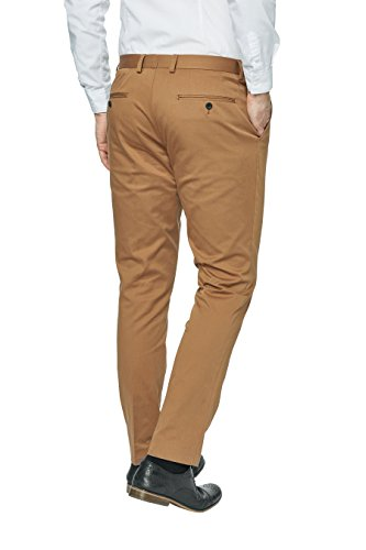 next Homme Coupe Skinny Pantalon De Costume En Coton Tan
