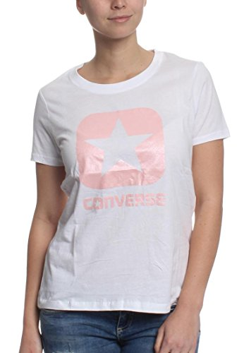 Converse Metallic Box Star T-Shirt Damen, weiß, M