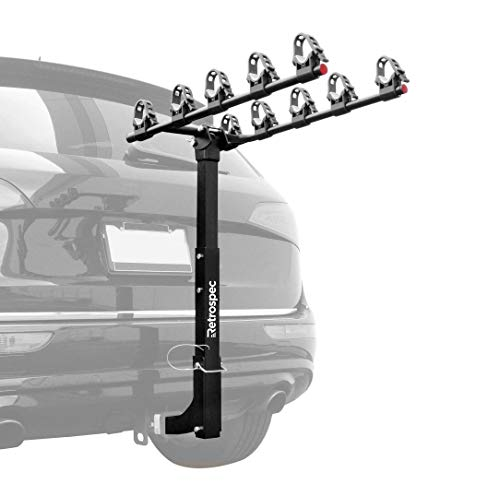 Retrospec Lenox Car Hitch Mount 5 Bicycle Carrier Bike Rack, Black, One Size (Bike Saris Hitch Rack)