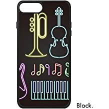 DIYthinker Caso Plus 8 iPhone Guitarra Música Instrumentos de neón phonecase Cover de Apple Caso Regalo