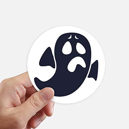 DIYthinker Halloween Ghost Inquiet Emoji Autocollants 10CM Mur Valise pour Ordinateur Portable Motobike Decal 8Pcs diamètre 10cm Multicolor