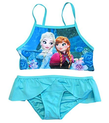 Frozen Bikini Bademode Die Eiskönigin 2018 Kollektion 98 104 110 116 122 128 Anna und ELSA Neu Völlig Unverfroren (104-110, Bikini Türkis)