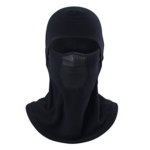 eclear deportes al aire libre cuello máscara negro media cara motocicleta conducción Riding Senderismo Viajar ciclismo casco de esquí capucha, 1 pc