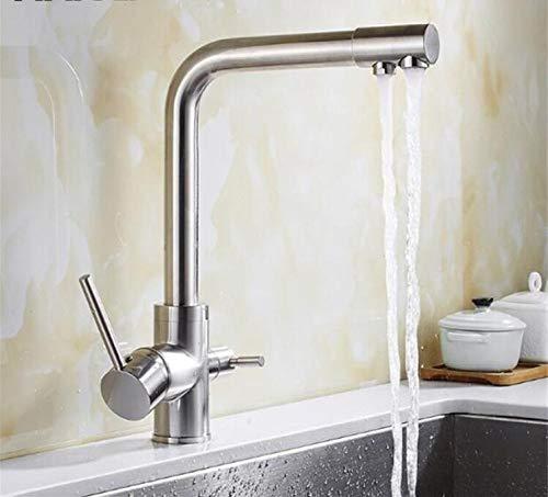 Decorry 3-Wege-Hahn 304 Edelstahl-Trinkwasser-Hahn-Wasser-Filter-Reinigungsküchenarmaturen Für Spülen Mutfak Musluk Taps Xt-86 (86 Zugstange)