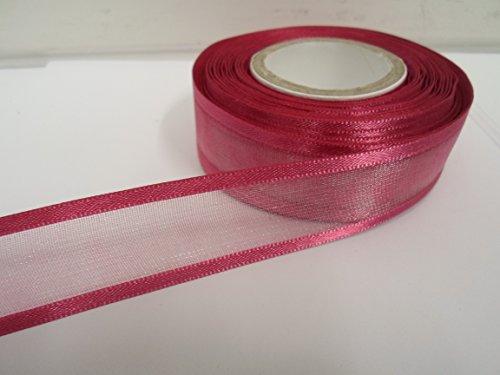 2m x 25mm ORGANZA mit Rändern aus Band dusky pink doppelseitig Satin Edge 25mm Dusky Pink Satin