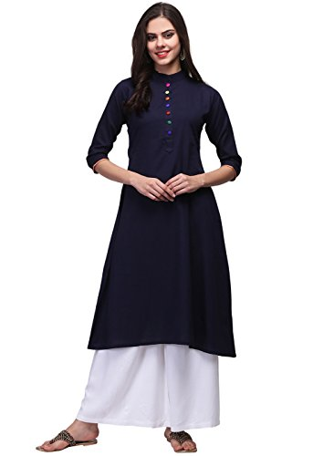 PMV Creation Women's Indo-western Rayon Kurti (PMV 00151) (Rayon Kurti, Medium)