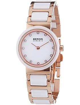 Bering Time Damen-Armbanduhr XS Ceramic Analog Quarz verschiedene Materialien 10725-766