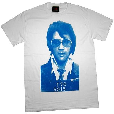 Elvis Presley - Camiseta - Hombre - Elvis Presley - Uomo Mugshot (Camiseta)