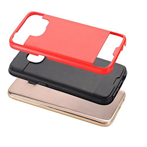 Cuitan 2 in 1 Housse Case pour Apple iPhone 6 / 6S (4.7 Inch), TPU Doux Inner Case et PC Difficile Retour Housse Back Cover Protecteur Etui Coque Cover Housse Shell pour iPhone 6 / 6S (4.7 Inch) - Noi Or rose