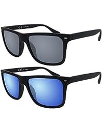 Original La Optica UV400 Herren Sonnenbrille Wayfarer - Farben, Einzel-/Doppelpacks, Verspiegelt