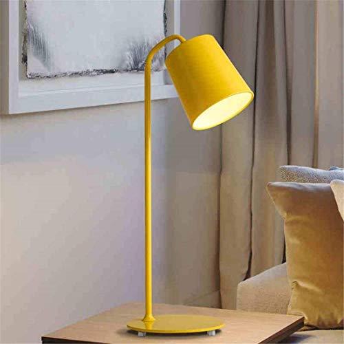 inimalistisch Schreibtischlampe Kreative Persönlichkeit Gelb Eisen Augenschutz Lernen Lesen Arbeit Led Weißes Licht Schreibtisch Schlafzimmer Nachttischlampe 190 * 250 * 590Mm ()