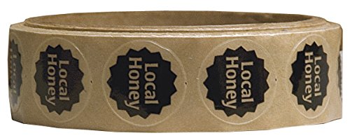 Mann Lake 250 Count Local Honey Label, 7/8-Inch 1