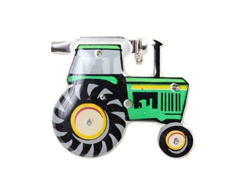 Blinki LED Anstecker Blinky Brosche LED Pin Button viele Motive, wählen:Traktor 190 (Led-licht Traktor)