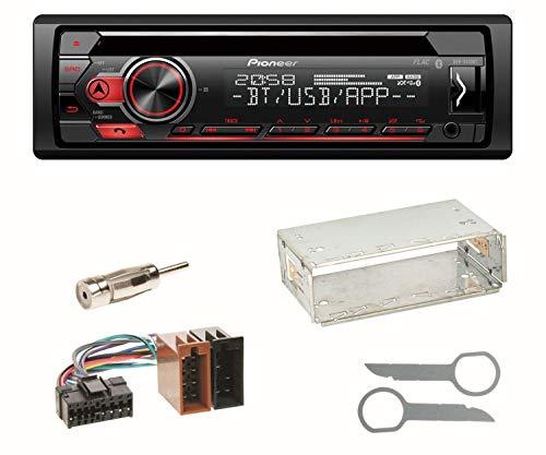 Pioneer DEH-S410BT Autoradio CD Bluetooth FLAC MP3 USB 1-DIN Equalizer Einbauset für Mercedes A C M Klasse