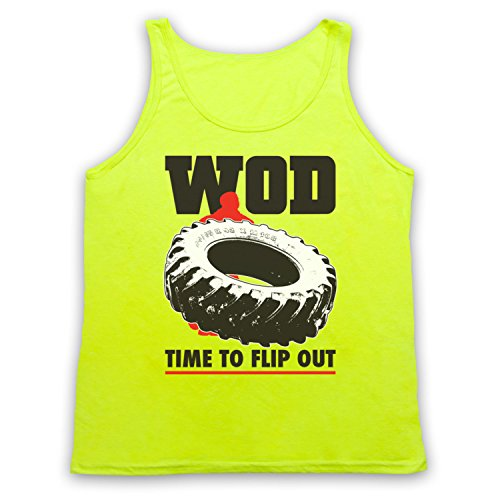 WOD Flip Out Workout Of The Day Tank-Top Weste Neon Gelb
