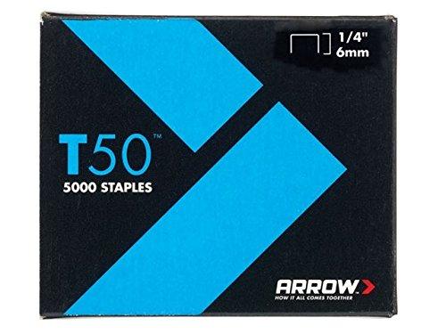 Arrow–T50de 5000agrafes 6mm (1/cm) (4x 1250)