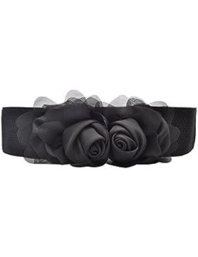 Sitong flores de la gasa de la moda de las mujeres cintura el¨¢stica