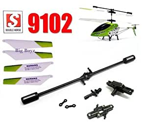 double horse 9102 helicopter parts fix repair set main blades balance bar connect buckle top bottom grip set