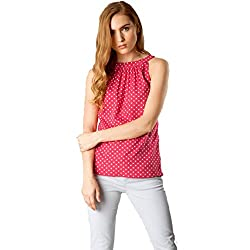 Latest top for women 2018 stylish tops for women under 500 tops for women new fashion 2018 tops below 300 for women a top for women g tops for women western top under 150 rs for women (CRAZY_FASHION_SURAT Womens Crepe Stitched Top (Pink) Size: Medium