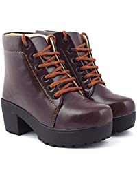 BEONZA Women High Neck Boots