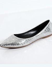5d6265ff5f9df1 PDX Damen Schuhe flach Ferse Ballerina spitz geschlossen…