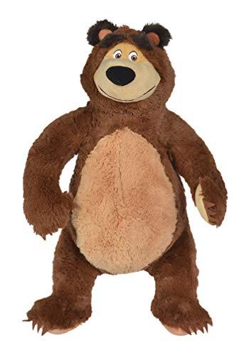 Simba Toys 109309894 Oso de Juguete Felpa Marrón Juguete de Peluche - Juguetes de Peluche (Oso de Juguete, Marrón, Los Cuentos de Masha, Felpa, Bear, 16 año(s))