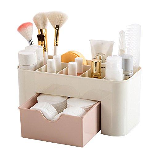 sunnymi Kosmetikbox/Schönes Praktisches Design/Platz Sparen/Desktop-Make-up-Speicher/Schubladenschachtel/Gute Qualität Isolierung Kein Eektrischer Schlag (rosa)