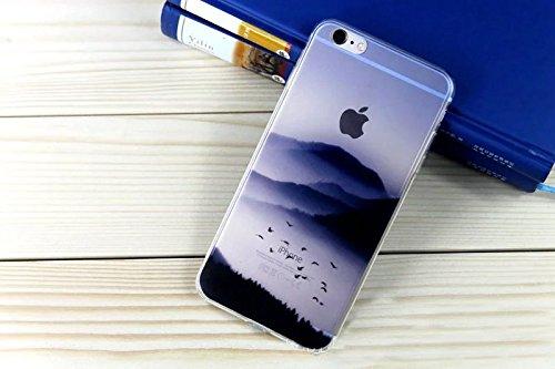 Vandot iPhone 6 Plus Motif Cas iPhone 6S Plus TPU Silicone Shell Housse Coque Etui Case Cover Résistant aux rayures Anti-dérapant Soft Gel Flexible TPU universelle Shell FJSP-21