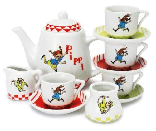 Glow2B Pippi Langstrumpf 44.3659.00 - Pippi Kaffeeservice, Porzellan 12-teilig
