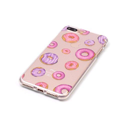 iPhone 7 Plus Custodia,iPhone 7 Plus Case,Patate amaretto Custodia in TPU Gel Ultra sottile [Trasparente] Custodia protettiva in gomma flessibile case cover para for iPhone 7 Plus 5.5inch colour & 4
