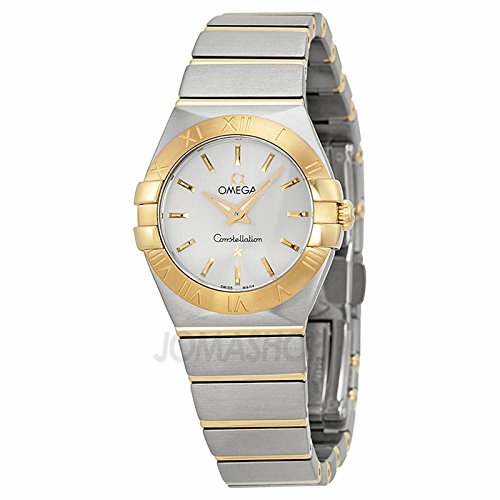 Omega Omega Constelación Plata Dial Acero inoxidable Acero y Oro Damas Reloj