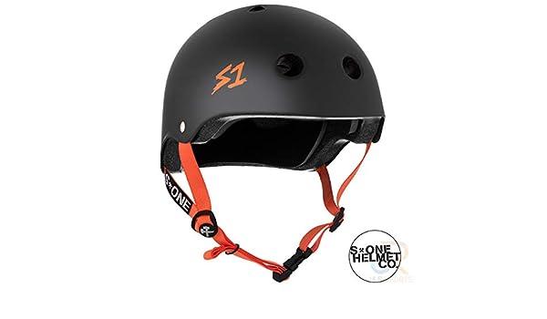 Black Matte//Orange Straps S1 Lifer Helmet
